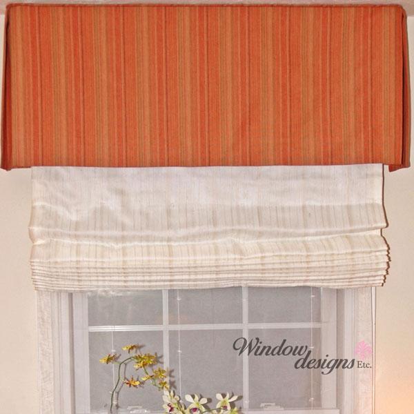 Flat-fold-Roman-shades-orange-valance