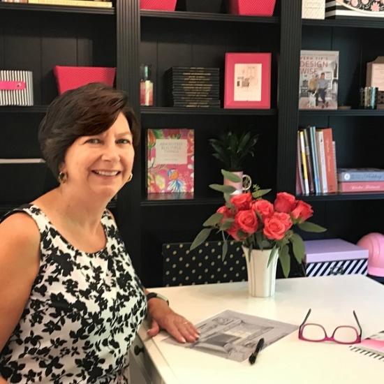 Marie Mouradian window treatment expert in Holden interior design studio