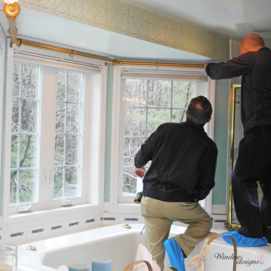 Professional measuring and installation will ensure a perfect fit for your new window coverings, blinds and shades.
