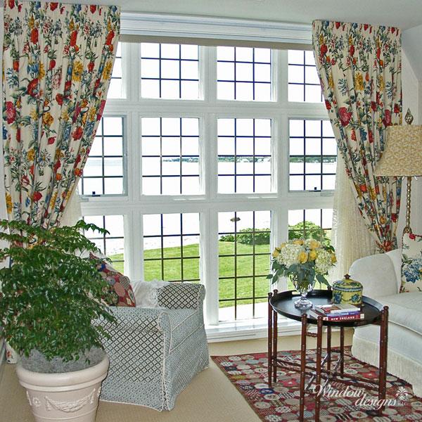 Shirred-floral-curtains-drapes-New-Hampshire-seacoast