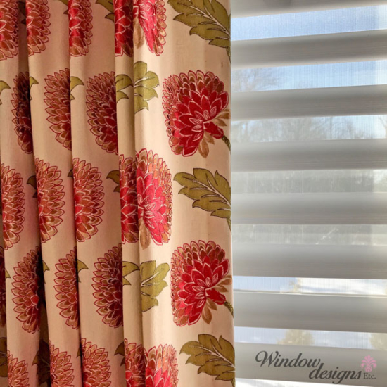 Custom drapes Hunter Douglas Pirouette Window Shade Upton, MA